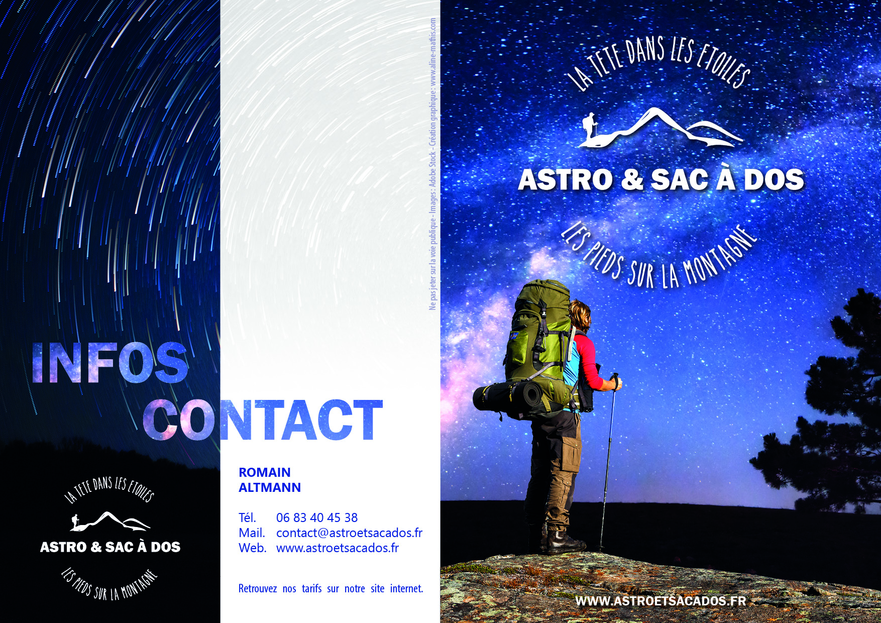 Flyers astro recto